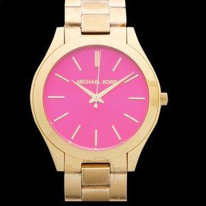 MICHAEL KORS Runway Quartz Pink Dial Ladies Watch
